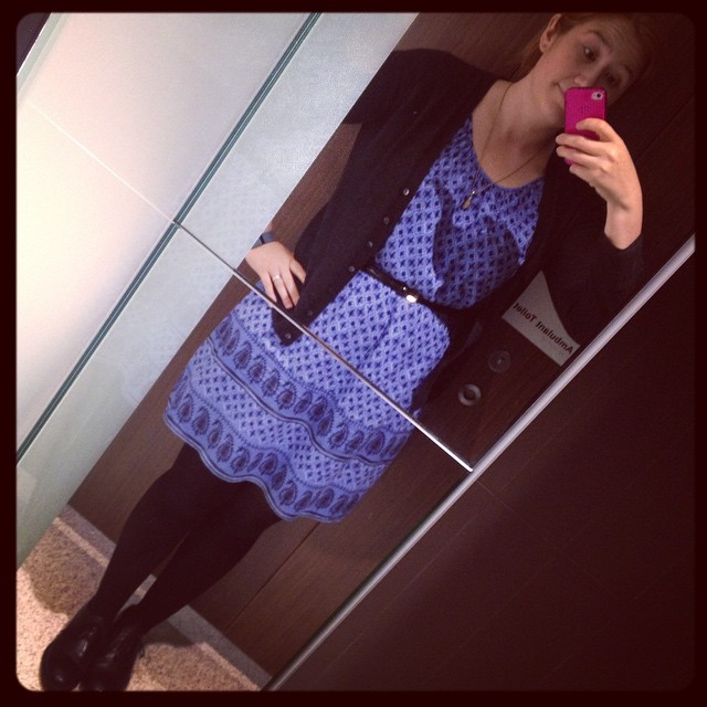 #frocktober day 17. Black and blue.