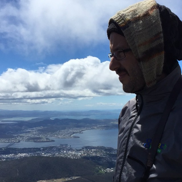 Time lapse on Mount Wellington summit with one very cold Snook.