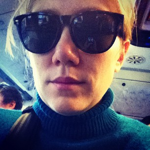 Turtleneck and dark sunnies. I am European royalty incognito...