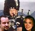 Me and Snookums and a bagpiper