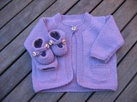 Violet's Cardigan and Booties